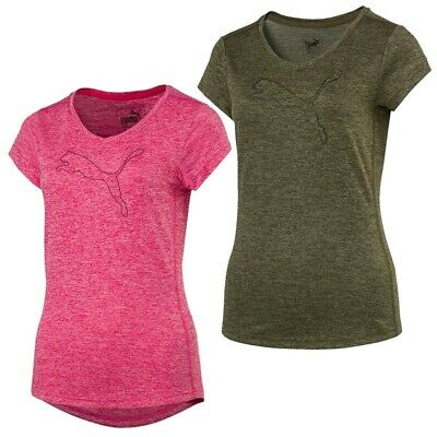 PUMA DAMEN HEATHER Cat Tee T-Shirt Trainingsshirt Laufshirt 2 Farben