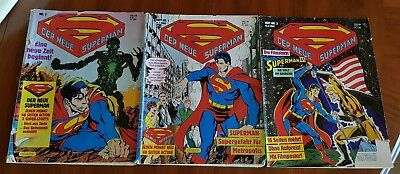 3 x Der neue Superman Comics Ehapa