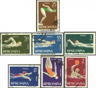 Romania 2153-2159 (complete issue) used 1963 swimming
