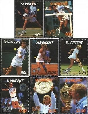 St. Vincent 1020-1027 (complete issue) unmounted mint / never hinged 1987 Tennis