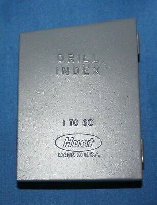 HUOT Drill Index for Wire Gauge Drills N.. 1 through 60 made by Huot