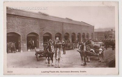 Early Postcard, Ireland,Dublin Guinness`s Brewery, Loading Floats Etc, ,RP
