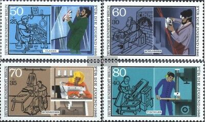 Berlin (West) 754-757 (complete issue) FDC 1986 Youth