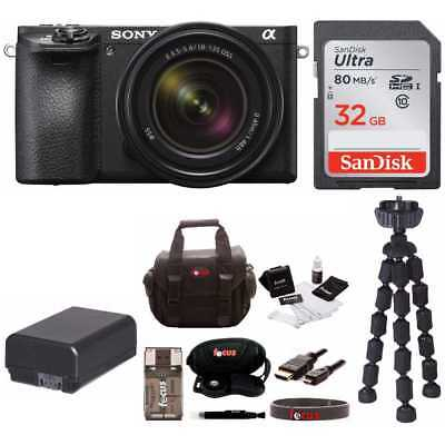 Sony Alpha a6500 Mirrorless Camera with 18-135mm f/3.5-5.6 Lens and 32GB Bundle