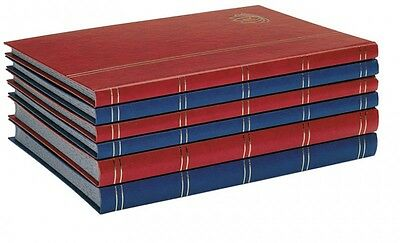 Lindner 5702-B Stockbook LOTOS with 32 black pages, 230 x 305 x 25 mm, blue