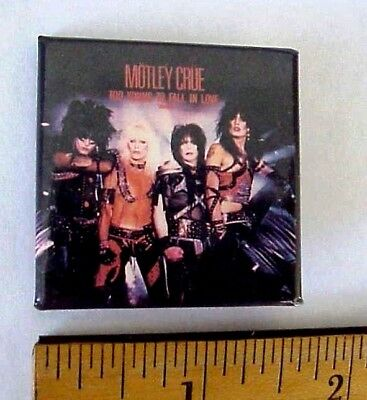 Vintage 1984 Motley Crue Too Young To Fall In Love Record Pinback Made Canada