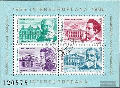 Romania block213 (complete issue) used 1985 INTEREUROPA