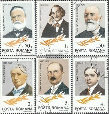 Romania 4124-4129 (complete issue) used 1985 Personalities
