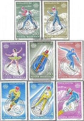 Romania 4003-4010 (complete issue) used 1984 Olympics Winter Ga