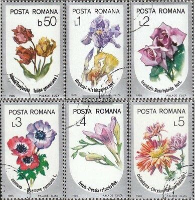 Romania 4268-4273 (complete issue) used 1986 Garden flowers