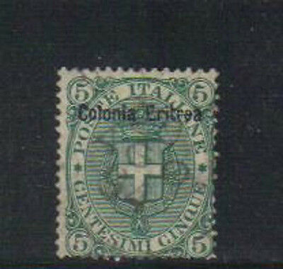 Eritrea old used stamp with overprint