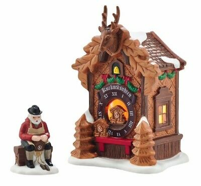 Department 56 Alpine Village Christmas Market Black Forest Clocks Set 4054960