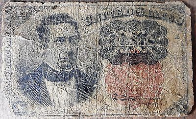 1874 Fifth Issue 10 Cent Fractional Currency Note! Circulated, n010