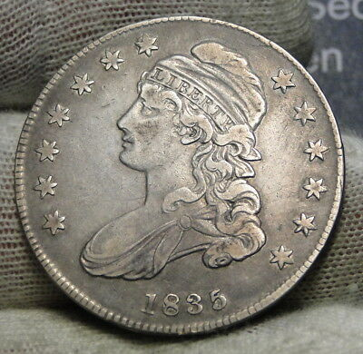 1835 Capped Bust Half Dollar 50 Cents - Nice Coin Free Shipping  (7263)