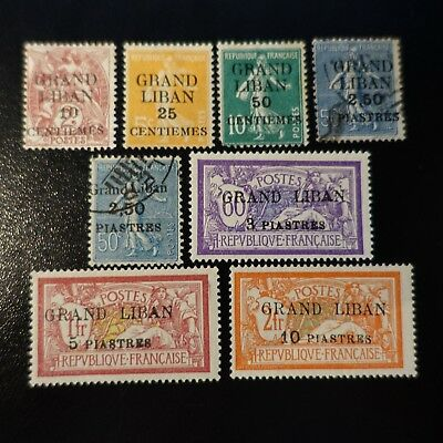 France Colony Grand Lebanon Between The The N°1/13 New And Obliterated Value