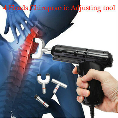 Electric Chiropractic Adjusting Tool Therapy Spine Activator Correction Massager