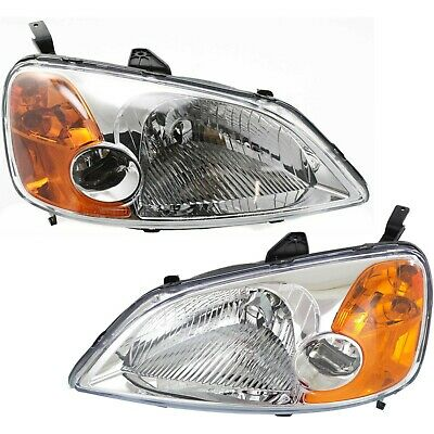 Headlight Kit For 2001-2003 Civic Left and Right 3pc