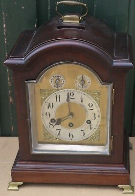 Wonderful Old Large Junghans Chiming Srched Top Bracket Type Clock