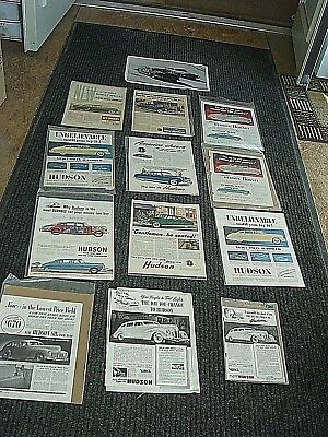 Vintage Advertising Racing Stock 1950's Hudson Car Color Photo Print Ad Lot