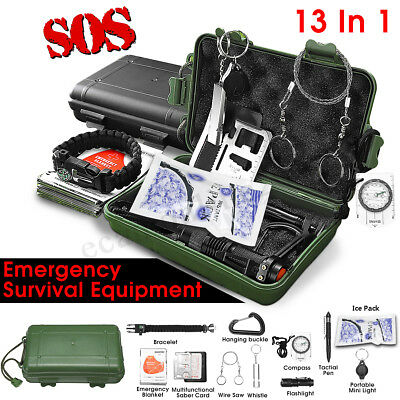 SOS Emergency Camping Survival Equipment Kit Outdoor Tactical Hiking Gear Tool