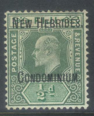 New Hebrides 1908 Optd Crown Ca Sg4 Mh Cat £60