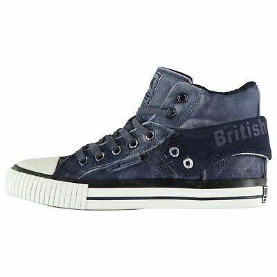 British Knights Mens Roco Fold Canvas Hi Top High Lace Up Padded Ankle Collar