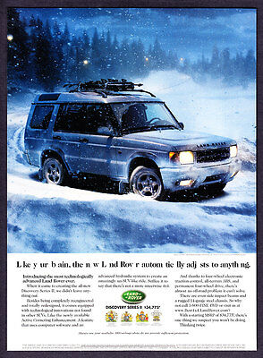 1999 Land Rover Discovery Series II with Skis in Snow photo vintage print ad