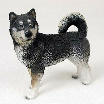 ALASKAN MALAMUTE Dog HAND PAINTED FIGURINE Resin Statue COLLECTIBLE puppy NEW