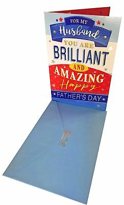 Happy fathers day greeting card envelope seal to amazing husband happy fathers day greeting card envelope seal to amazing husband men dad wife m4hsunfo