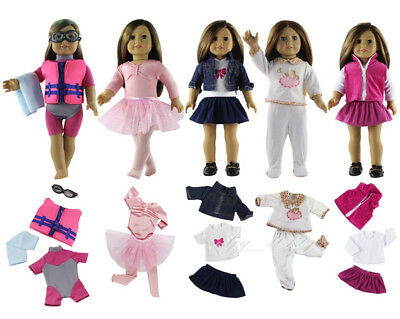 New 5 Set Doll Clothes Outfit for 18 inch American Girl Doll Clothing Dress B01