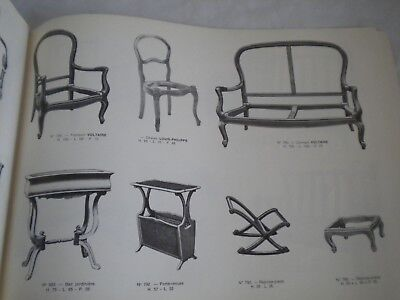 Vintage catalogue french Furniture Rosello Frères
