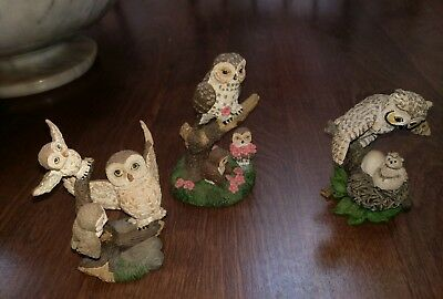 Hamilton Collection Lil Whoots Mother's Instincts Collection lot of 3 Premier