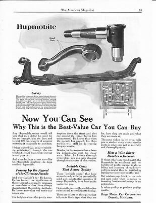 1920s Magazine Print Ad~Hupmobile Steering Knuckle & Arm~Front Axle~A130
