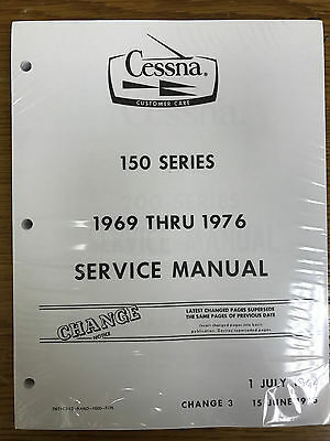 Cessna service manual 100 series 150 172 175 180 182 185 1969 76 cessna 150 series printed service manual new fandeluxe Images