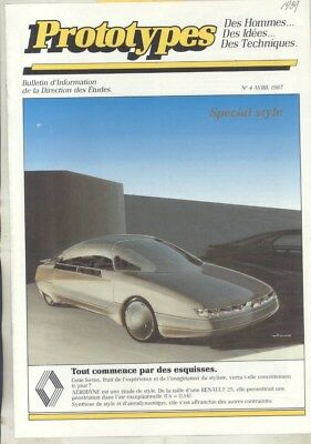 1987 Renault Prototypes Concept Brochure French wz3165