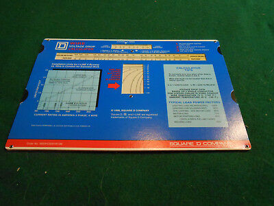 1996 Square D Company WIRE VOLTAGE DROP CALCULATOR HVAC/+ Design Aid