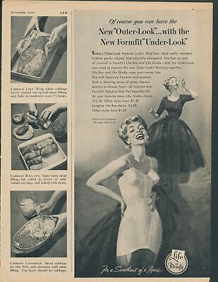 Print Ad~Vintage~1950s~Life by Formfit~Girdle~Smoking~Blonde~Outer-Look~F100