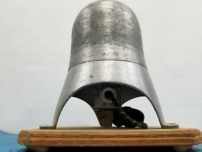 "Antique Head Form Mold Aluminum Electric Hat Stretcher Block 21""1/  Perfect COND"