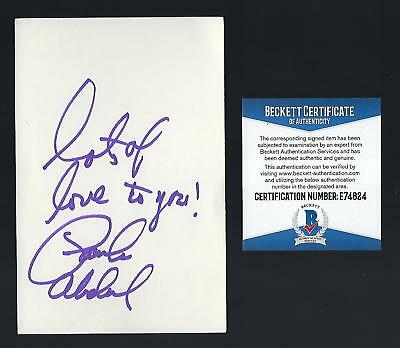 "Paula Abdul signed 4""x 6"" card BAS Authentic American Idol"