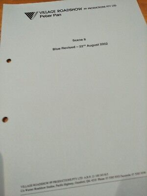 Peter Pan Movie '03 Production Used Copy Rev. Preliminary Storyboards Storyboard