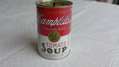 Campbells Tomato Soup Tin Can Coin Bank 125th Anniversary 1994 Nice Condition