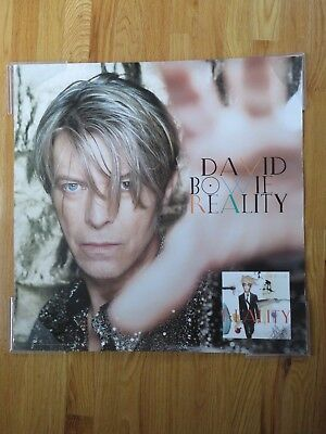 """2003 Promotional DAVID BOWIE """"Reality"""" Columbia Records Poster ZIGGY STARDUST"""