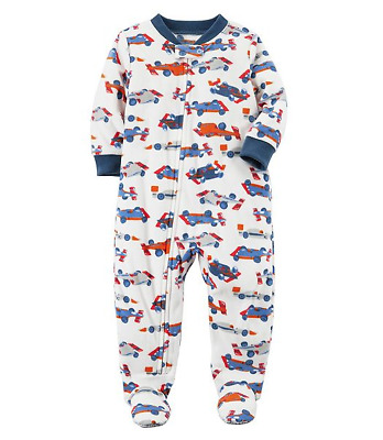NWT ☀FOOTED FLEECE☀ CARTERS Boys Pajamas RACE CAR  New  7  8     12  14  $32