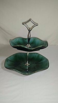 Vintage Blue Mountain Pottery Tiered Tidbit Server Candy Plate Bmp Canada Bowl
