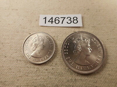 Lot - Mauritius 2 Piece Type Set 1 Rupee, 1/2 Rupee Collectible Coins - # 146738