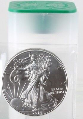 Roll of 20 - 2014 1 oz Silver American Eagle $1 Coin BU (Lot, Tube of 20) C0055