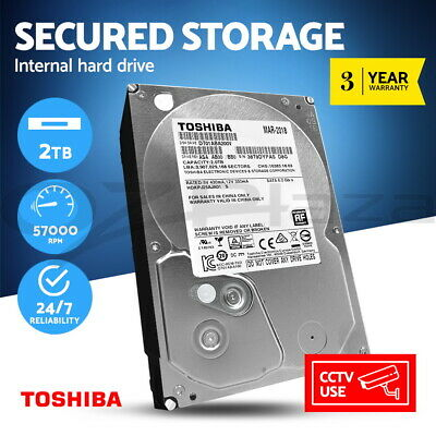 Toshiba Internal Hard Disk Drive CCTV 2TB Surveillance Desktop HDD Sata Video