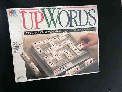 Vintage 1988 milton bradley UPWORDS 3d word board family game sealed NEW