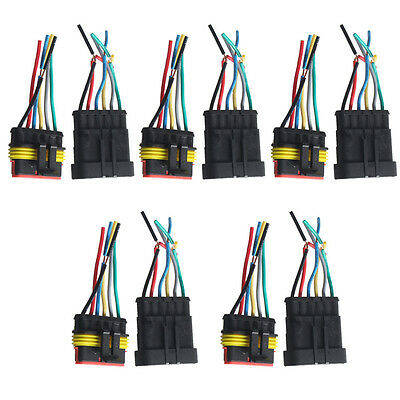 5 X 6 Pin Car Motor Waterproof Electrical Connector Plug Socket Wire Cable