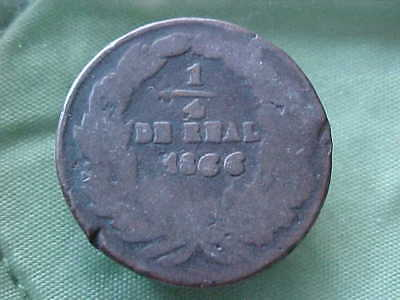 Mexico-Coin 1866 - 1/4 Real Chihuahua